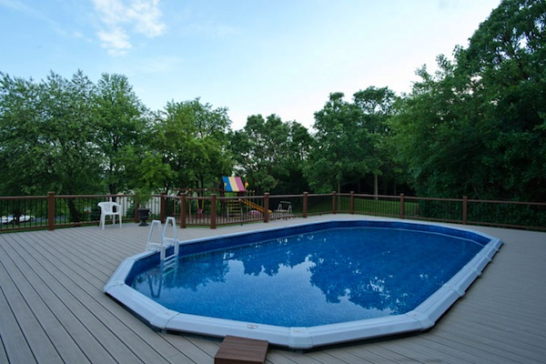 Large Trex® Pool Deck McHenry