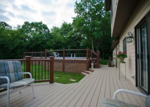 Large Trex® Pool Deck with Lattice Skirting McHenry County