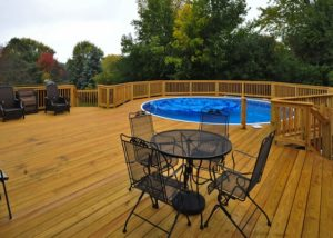 Large Wood Pool Deck Algonquin 2