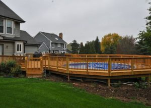 Large Wood Pool Deck Algonquin