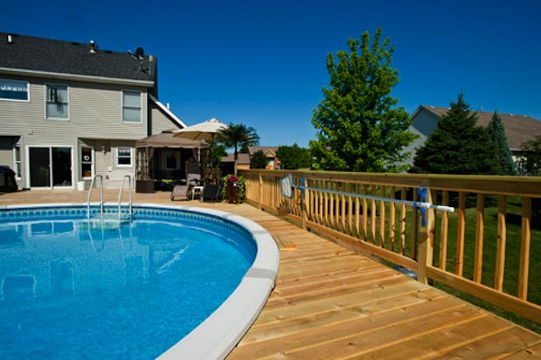 Large Wood Pool Deck McHenry 2