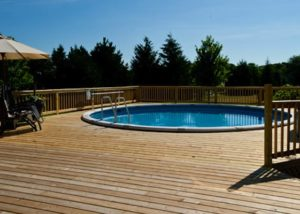 Large Wood Pool Deck McHenry