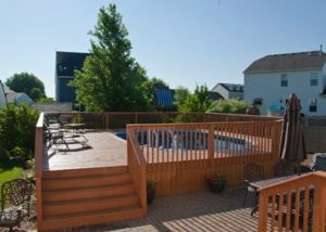 Large Wood Pool Deck to Patio Huntley