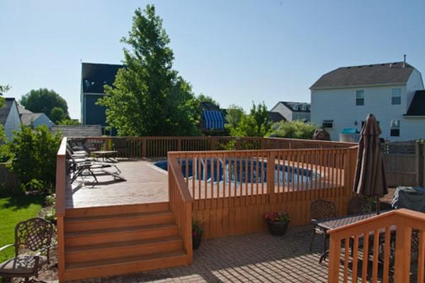 Large Wood Pool Deck to Patio Huntley