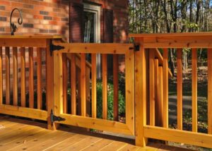 Latched Cedar Deck Gate Marengo