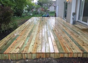 Pine Platform Deck Lake County