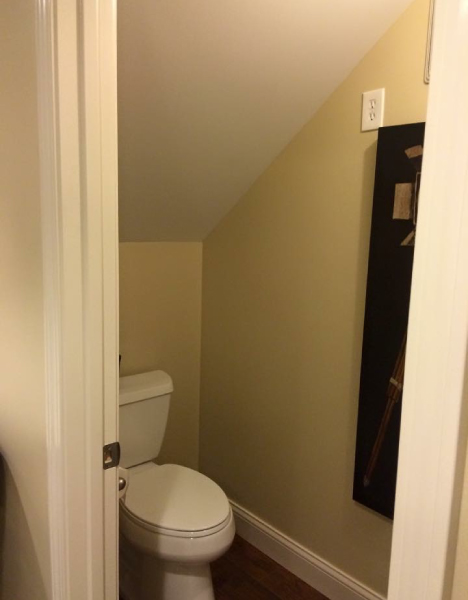 Powder Room Under Stairs McHenry
