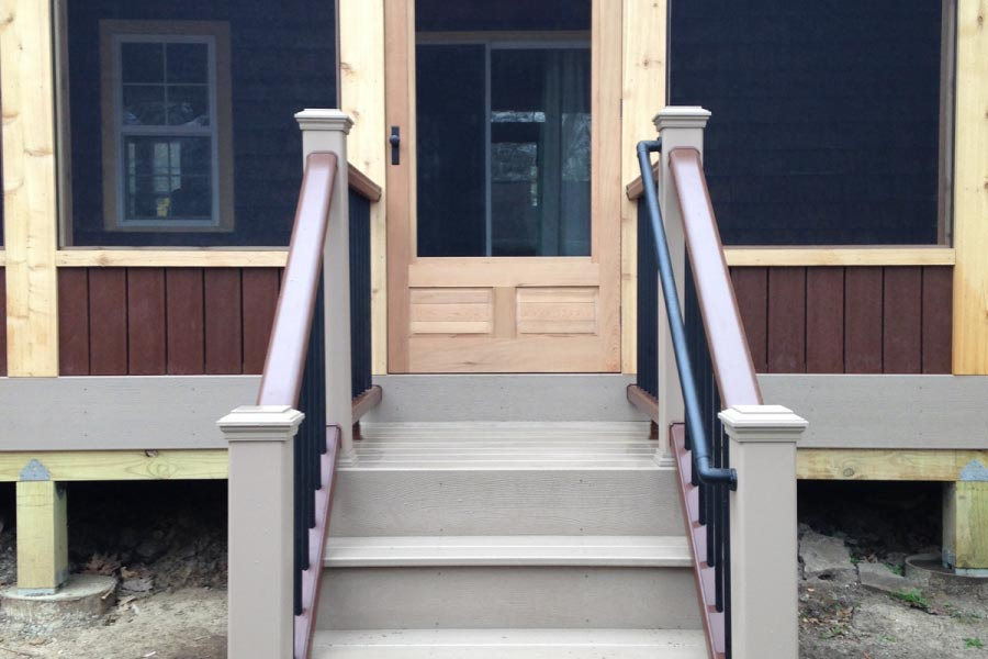 Rope Swing Trex® Deck Stairs and Screen Room Lake Geneva