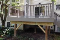 Rope Swing Trex® Deck with Bronze Aluminum Balusters Gurnee