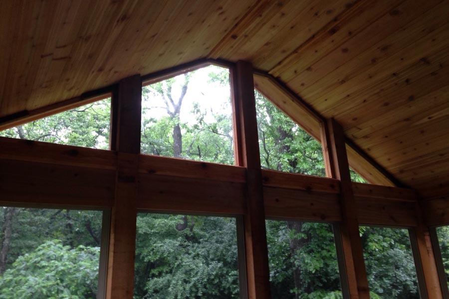 Screen Room Wood Ceiling Lake Geneva