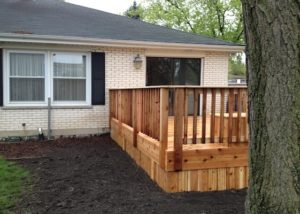 Small Cedar Deck McHenry County
