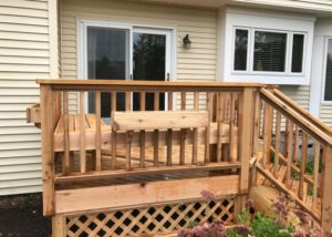 Small Cedar Deck with Flower Boxes and Lattice Lake County 2