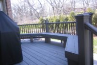 Small Trex® Deck with Benches Palatine