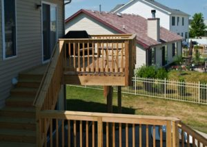 Small Wood Deck to Pool Deck Platform McHenry