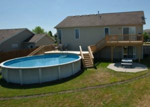 Small Wood Pool Deck McHenry