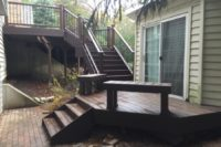 Spiced Rum Trex® Deck with Benches Wadsworth