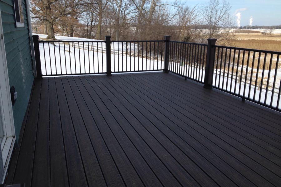Spiced Rum Trex® Deck with Black Reveal Railings Lake County