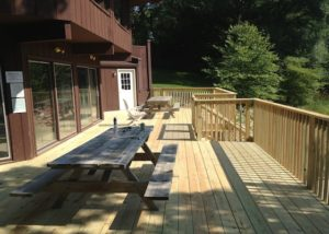 Treated Wood Clubhouse Deck Spring Grove