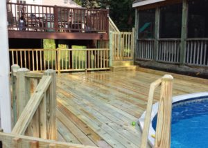 Treated Wood Pool Deck Lake County
