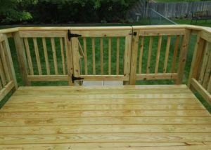 Treated Wood Small Deck Gate McHenry