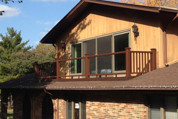 Trex® Balcony with Glass Railings McHenry County 2