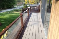 Trex® Balcony with Glass Railings McHenry County