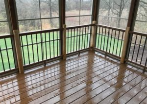 Trex® & Cedar Screen Room with EZE Breeze Panels Lake County