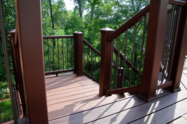 Trex® Deck Custom Stairs and Landing Lake Zurich