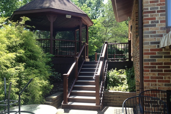 Trex® Deck Stairs and Gazebo Algonquin