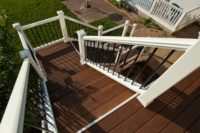 Trex® Deck with Aluminum Balusters Stairs Johnsburg