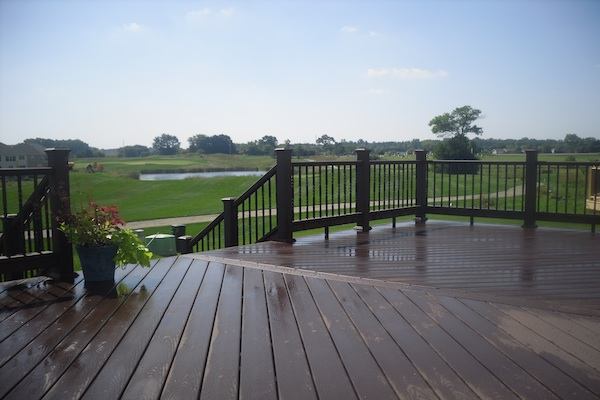 Trex® Deck with Angled Decking Kenosha