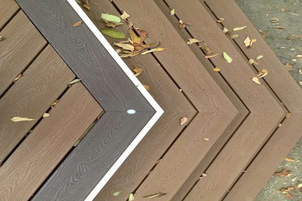 Trex® Deck with Border and Wrap Around Stairs Kenosha