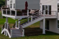 Trex® Deck with Custom Stairs West Dundee