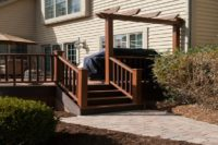 Trex® Deck with Decorative Pergola Cary