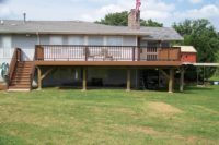 Trex® Deck with Flat Top Railings Johnsburg