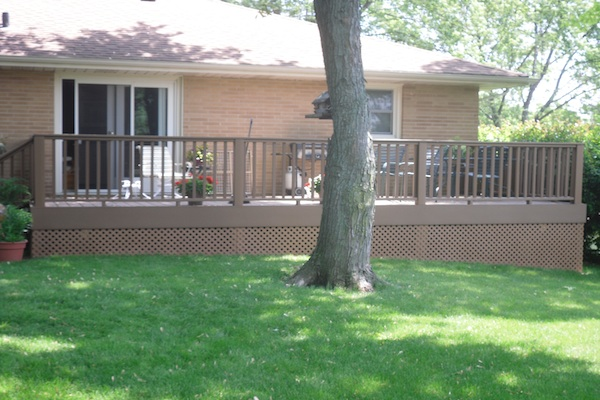 Trex® Deck with Lattice Skirting Johnsburg