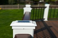 Trex® Deck with Solar Post Cap Lights Libertyville