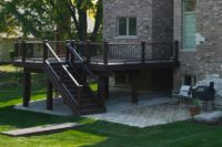 Trex® Deck with Trex® Wrapped Posts Schaumburg