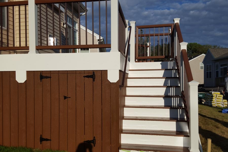 Trex® Deck with Under Deck Storage Lake County