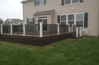 Trex® Deck with White Posts Huntley