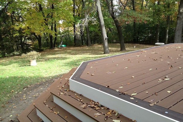 Trex® Deck with Wrap Around Stairs Kenosha
