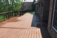 Trex® Fire Pit Deck with Gate Inverness