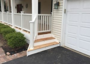 Trex® Railing and Cedar Front Porch Crystal Lake