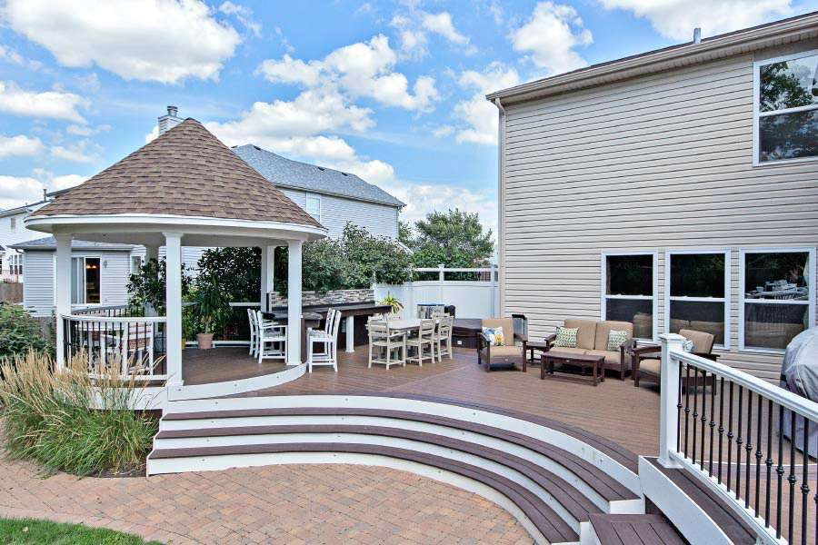Photo galleries screen rooms gazebos rock solid for Deck with gazebo