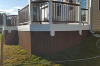 Trex® Tree House Deck with Skirting Elgin