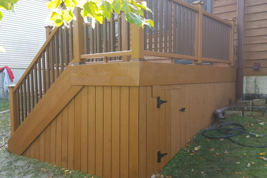 Trex® Tree House Deck with Under Deck Storage Lake County