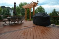Trex® and Cedar Deck with Cedar Decorative Pergola South Elgin