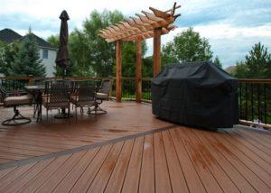 Trex® and Cedar Deck with Cedar Decorative Pergola South Elgin