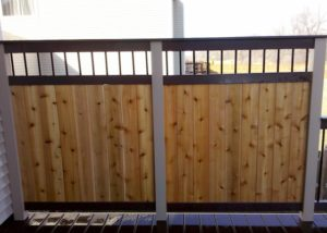 Trex® and Cedar Privacy Wall on Trex® Deck Lake County