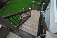Two-tone Trex® Stairs McHenry County